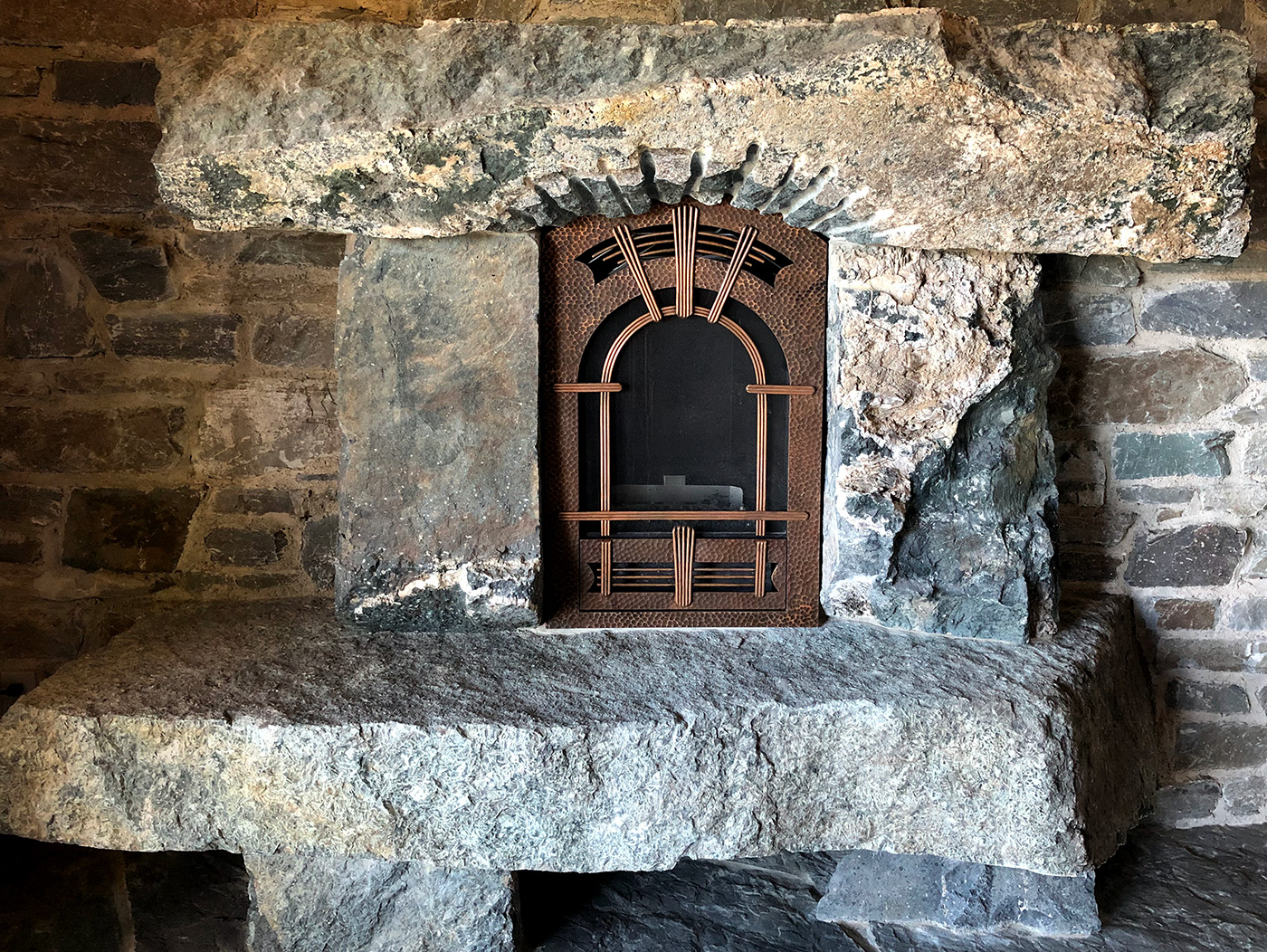 """The Tomb"" Fireplace Cover Andrew Parent"