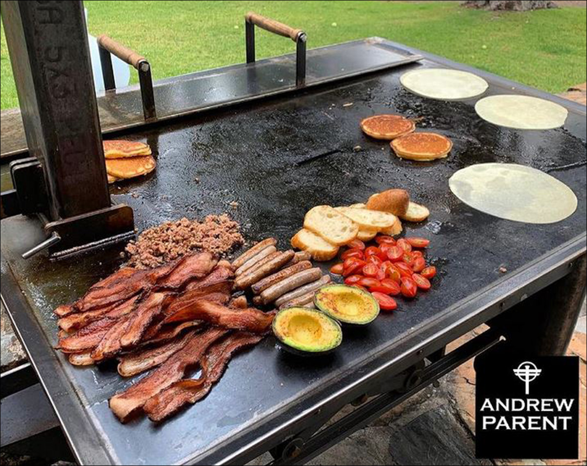 Breakfast on the Andrew Parent Peacemaker Grill Flat Top 4x4