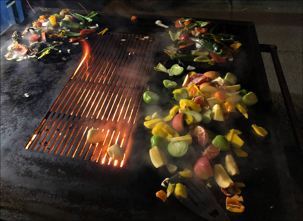 Street Tacos on the Andrew Parent Peacemaker Grill Flat Top 4x4