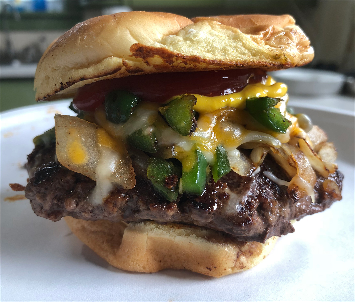 Burger Jalepeno on a Peacemaker Grill Andrew Parent
