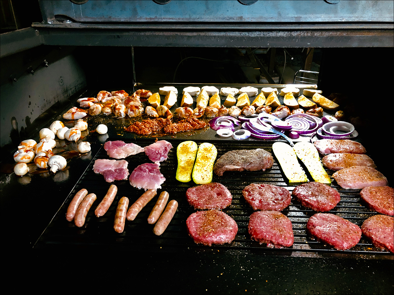 Variety Big Spread on a Peacemaker Grill Andrew Parent